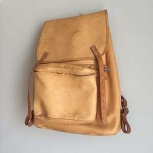 Vintage Polish Leather Backpack